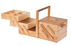 Caja de costura de madera Artesanias Kit por TechnicalFreakShop