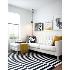 Black and white living room with yellow accent, yay or nay? #interior #interiordesign #desaininterior #blackandwhite #livingroom #livingroomdesign #ruangkeluarga #desainruangkeluarga #yellow