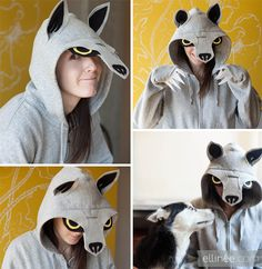 Wolf Halloween Costume ,Wolf Halloween Costume , Fur Suit Pattern Furries, Anthro, Wolf Costume , Cool Costumes Pattern and Tutorial for several sizes, Steby by Step Sewing Tut