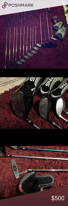 Ping G5 set and rapture drivers, ping putter Selling my Ping G5 set, includes rapture driver 10.5, 14 deg 3 wood, 24 degree wood, 4-9 irons, wedge, 60 deg Cleveland wedge, 56 deg Cleveland sand wedge, 50 deg ping wedge, ping I series half moon putter, driver covers, and LSU golf bag optional for 25$ more. All in great condition nothing wrong what so ever. Ping Other