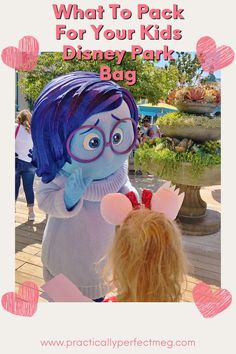What To Pack In Your Kids Disney Park Bag. #Travel #FamilyTravel #Disney #DisneyWithKids #Disneyland #DisneylandTips #WDW #DisneyWorld #WaltDisneyWorld #DisneyCaliforniaAdventure Disney World Packing, Disney Vacation Planning, Walt Disney World Vacations, Disneyland Resort California, Disney California Adventure, Traveling With Baby, Travel With Kids, Family Travel, Minnie Mouse Doll