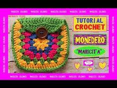 Monedero / bolsita a Crochet por Maricita Colours Tutorial Gratis! - YouTube