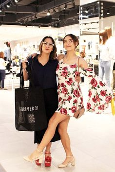 All the Stylish Guests We Spotted at the Forever 21 Robinsons Magnolia Shopping Party Magnolia, Ph, 21st, Forever 21, Shoulder Dress, Store, Stylish, Party, Shopping
