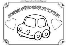 Coloriage voiture pour la fête des pères