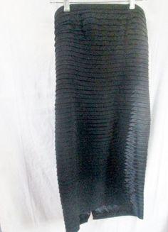 WOMENS CARMEN MARC VALVO Dress Sleeveless Gown 12 BLACK Pleated SHIMMER