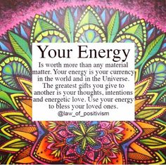 Use your energy to bless your loved ones~