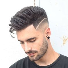 How To Style A Hard Part: 20 Awesome Hard Part Haircuts - Men's Hairstyles Stylish Haircuts, Cool Hairstyles For Men, Cool Haircuts, Haircuts For Men, Hairstyles Haircuts, Short Hair Cuts, Short Hair Styles, Hard Part Haircut, Mid Fade Haircut