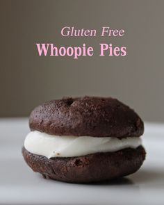 These Gluten Free Chocolate Whoopie Pies are The. Best. Thing. Ever.Seriously. They are the perfect treat for Valentine's day!