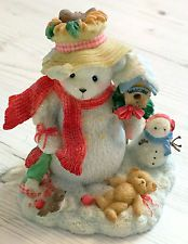 Cherished Teddies - Merry Snow Bear - In The Meadow We Can Build a Snowman 2000