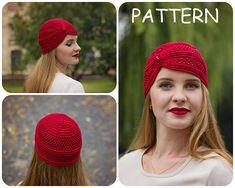 Crochet Pattern  Beanie Hat With Bead Crochet Pattern  Lace
