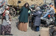 "Caitriona Balfe ~ filming of #Outlander ""Dragonfly in Amber"" season 2"