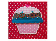 Mooi schilderij cupcake (foto 1)