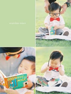 Asian Baby with glasses