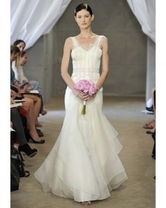 Love this non strapless Carolina Herrera wedding dress  from Spring 2013 collection