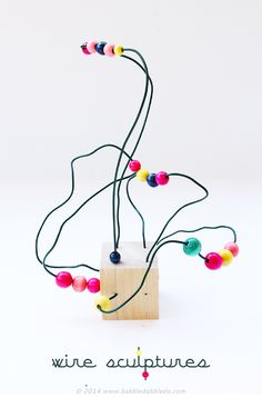 Easy Art for Kids: Wire Sculpture | BABBLE DABBLE DO | Wire sculpture is an easy art project for kids that introduces the concepts of line and space.