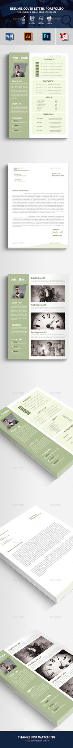 Professional Resume CV Creative 4 Pages Blog