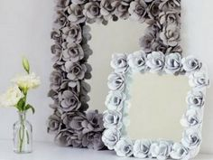 Recycle Egg Cartons into a beautiful Mirror. Check out all the versions and be sure to try the Plastic Spoon Mirror too!
