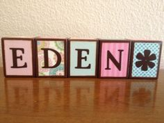 Baby name blocks baby gift custom baby by babynameblocksnsigns items similar to personalized letter blocks name blocks baby letter blocks baby room decor childs room decoration on etsy negle Image collections