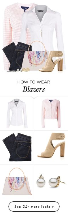"""""""Armani Jeans Cotton Blazer"""" by houston555-396 on Polyvore featuring Armani Jeans, Dorothy Perkins, Marc by Marc Jacobs, Ted Baker, Vince, LC Lauren Conrad and Lele Sadoughi"""