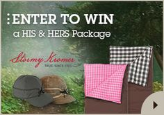 Win a His & Hers Package from #stormykromer and #slumberjack.