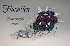www.flaxation.co.nz Flax Flowers, Fabric Flowers, Flax Weaving, Our Wedding Day, Wedding Ideas, Wedding Bouquets, Flower Arrangements, Special Occasion, Waterfall