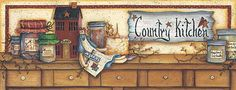 country kitchen border- Mary Ann June