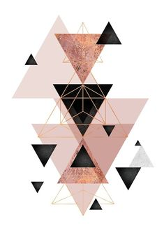 """Geometric Triangles in blush and rose gold"" Canvas Print by UrbanEpiphany Rose Gold Wallpaper, Framed Wallpaper, Iphone Background Wallpaper, Pastel Wallpaper, Aesthetic Iphone Wallpaper, Aesthetic Wallpapers, Rose Gold Throw Pillows, Tapete Gold, Gold Canvas"