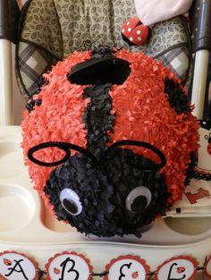 Ladybug Pinata by MommiesMade on Etsy, $40.00
