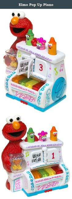 """Elmo Pop Up Piano. The adorable Elmo's World Pop Up Piano is styled just like the piano from the Elmo's World show and """"comes to life"""" with moving characters and three ways to play. Listen to melodies as notes from the songs magically light up, step-through a song note-by-note, or learn to play a tune by following the lights. As you press the keys, the characters magically """"come to life"""" in random fashion: Elmo's head bobs back and forth, Dorothy spins in her bowl, and the crayons pop up…"""
