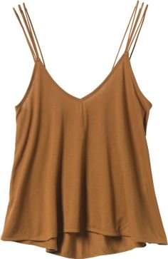 Love the multi thin straps on this basic layering tank. Perfect for Fall through summer looks!