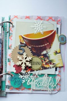 Winter acrylic smash w/Starbucks and Hope tab