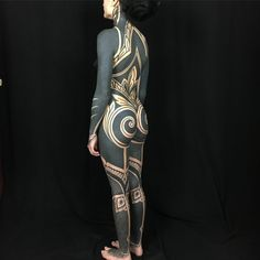 Image may contain: one or more people and people standing Weird Tattoos, Great Tattoos, Black Tattoos, Full Body Tattoo, Body Art Tattoos, African Tribal Tattoos, Mod Girl, Hybrid Moments, Skin Art