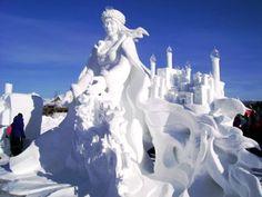 Top 40 des sculptures sur neige et glace impressionnantes