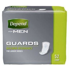 Depend Guards Incontinence Pads for Men, Maximum Absorbency, 52 count Depends For Men, Man Pad, Pad Design, Paper Strips, Counting, Personal Care, Body Makeup, Makeup Eyes, Bones
