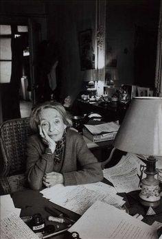 Marguerite Duras, écrivain, Prix Goncourt. Paris 1993 @ Janine Niepce