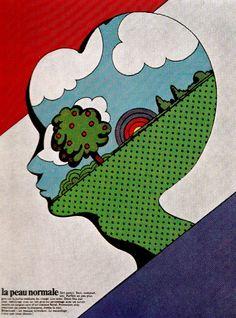 From Gebrauchsgraphik International January 1971, illustrations by Milton Glaser.