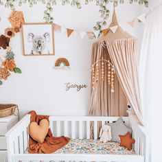 Excellent baby nursery detail are readily available on our web pages. Baby Nursery Decor, Baby Bedroom, Nursery Room, Girl Nursery, Nursery Set Up, Peach Nursery, Baby Girl Room Decor, Flower Nursery, Boho Nursery