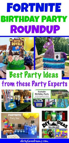Roundup Post of the Best Fortnite Birthday Party Ideas and Tips on the Internet! These bloggers have shared some easy-to-make projects and fun DIY ideas for creating an amazing Fortnite Party for kids or adults! Great ideas for a Fortnite cake, v-bucks cookies, fortnite party favors, fortnite decorations and supplies, and outdoor games and fun! #fortnitebr #birthdayparty #partyideas #diyparty #kidsparty #ps #epicgames #gamer #videogames #gamers #fortnitewin #fortnitepc #party