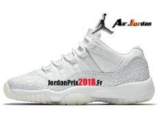 super popular 0feda be9c3 Chaussure Basket Jordan Prix Pour Femme Air Jordan 11 Retro Low GS  Héritière Blanc Pure Platine