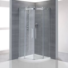 Frameless Quadrant Shower Enclosure 800 with Sealant Downstairs Cloakroom, Loft Bathroom, Bathrooms, Bathroom Stuff, Small Shower Room, Small Showers, New Bathroom Ideas, Bathroom Trends, Modern Interior