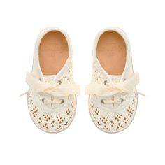 Crochet plimsoll - Floral Collection - Baby girl - Kids - ZARA United States