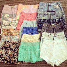 So uhm, anyone looking for something to get me for Christmas: Pastel shorts/jeans and cute knit sweaters. I Love Fashion, Teen Fashion, Passion For Fashion, Womens Fashion, Fashion Sets, Summer Outfits, Cute Outfits, Summer Dresses, Summer Shorts