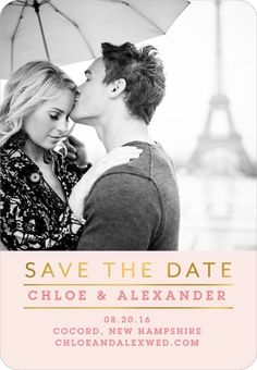 Modern Touch - Save the Date Magnets in White or Black | Picturebook