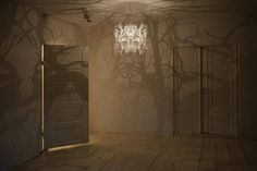 Forms in Nature Light Sculpture Forest Shadow Chandelier