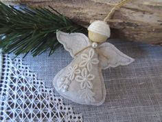 Angel Christmas Ornament Handmade Angel Tree Ornament