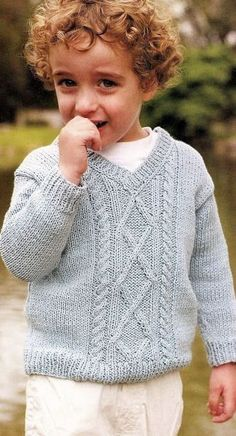 Discover thousands of images about pullover varon Baby Boy Knitting Patterns Free, Knitting For Kids, Knit Patterns, Knit Baby Sweaters, Girls Sweaters, Knitwear, Knit Crochet, Google, English