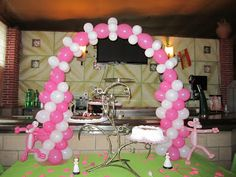 Designed as a Pink Panther table-topper, it would be cute if it was turned into an entryway for the party. Theme Parties, Party Themes, Party Ideas, Pink Panther Theme, Pink Panter, Table Toppers, Entryway, Design, Party Planning