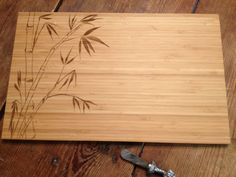 ENGRAVED CUTTING BOARD Bamboo Stalks 11 X 16 by STWoodshop on Etsy, $45.00