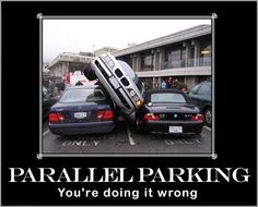 Avoid a #Parallel Park fail.  Perfect Parallel Parking - From driving School Young Drivers of Canada https://youngdriversofcanada.wordpress.com/2013/02/26/driving-test-ready/