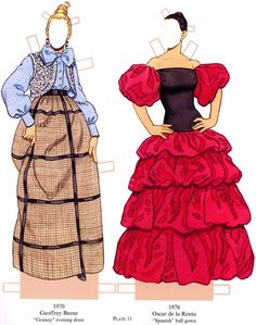 * Dolls And Daydreams - Doll And Softie PDF Sewing Patterns: Free 1960s Vintage Paper Dolls